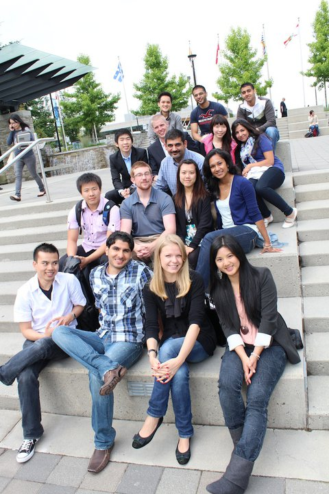 Sam with Students from SFU's Beedie School of Business