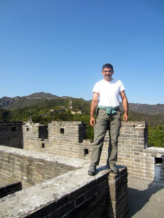 Sam on the Great Wall of China